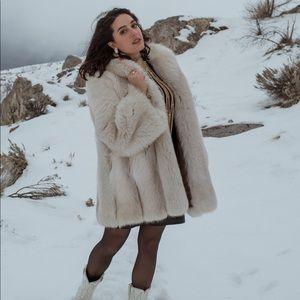 VTG 60s-70s Snow Fox Fur Coat